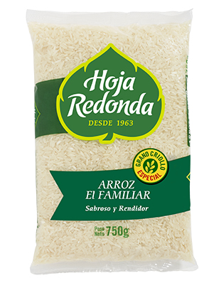 Arroz Hoja Redonda Familiar 750g