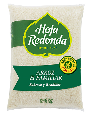 Arroz Hoja Redonda Familiar 5kg